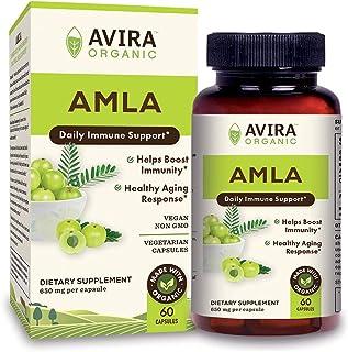 Avira Organic Amla for Immune Support - Max Strength 1300mg serving per day, Amla Rich in Vitamin C complex, Rejuvenator -...