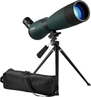 Aurosports 25-75x70mm HD Spotting Scope for Target Shooting Waterproof Optics Scope Fogproof Zoom Monocular Telescope for Bird Watching, Hunting, Archery Wildlife Scenery with Tripod and Soft Case