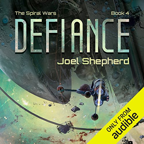 Defiance     The Spiral Wars, Book 4              By:                                                                                                                                 Joel Shepherd                               Narrated by:                                                                                                                                 John Lee                      Length: 16 hrs and 50 mins     246 ratings     Overall 4.7
