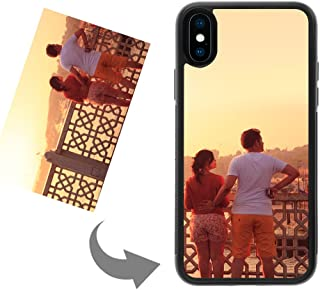 Customize Your Own Phone Case - Personalized Photo Text Logo Back Cover Case for iPhone X or XS,Birthday Xmas Valentines Gift for Her and Him