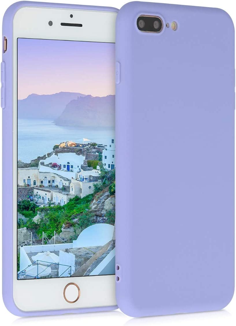kwmobile TPU Case Compatible with Apple iPhone 7 Plus / 8 Plus - Case Soft Slim Smooth Flexible Protective Phone Cover - Light Lavender