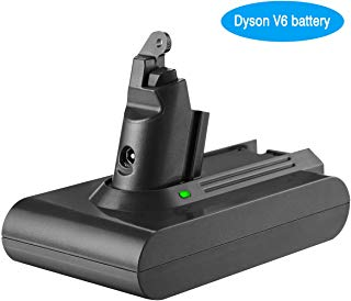 Powerextra 3000mAh Dyson 21.6V Battery Compatible with Dyson V6 Li-ion Battery 595 650 770 880 DC58 DC59 DC61 DC62 Animal DC72 Series Handheld Replacement Battery