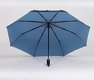 Folding Umbrella Automatic Umbrella Female Rain Umbrella Business Umbrella Sunscreen UV Protection Huhero (Color : Blue)