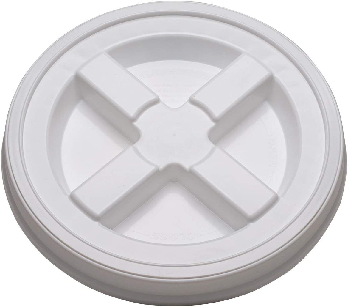 (5) Brand New White Gamma Seal Lids