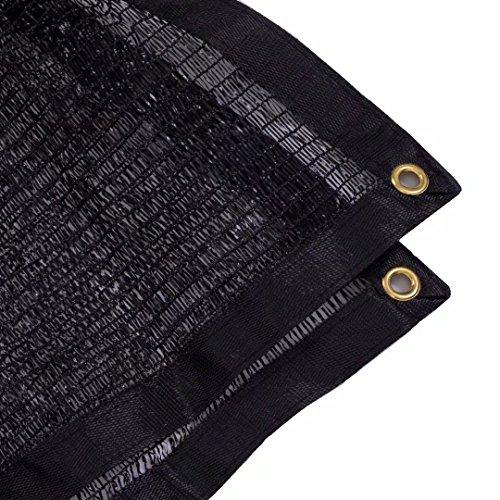 Soclear 50 Voile pour Serres Filet d'Ombrage Coupe-Vent Et Soleil avec Oeillets Noir - ShadeCloth 12ft * 8ft
