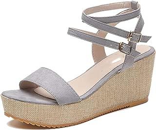 Skotmini Women Sandals Summer Gladiator Wedges Platform Woman Slides Peep Toe Solid Lady Buckle Strap