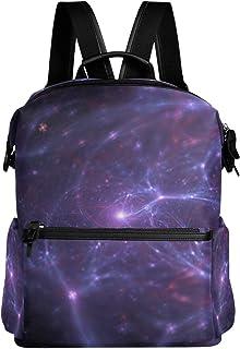 NewSmarter Neurons 明るい銀河の宇宙柄 旅行 ノートパソコン バックパック 軽量 盗難防止 カレッジ 学生 バックパック