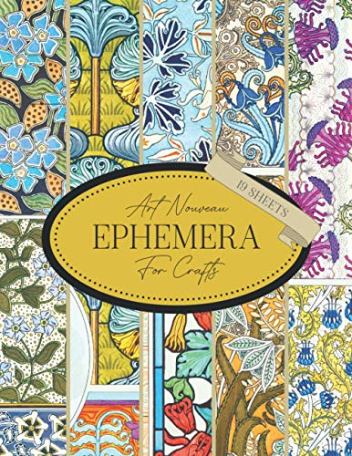 Compare Textbook Prices for Art Nouveau Ephemera For Crafts: Copyright-Free Images To Cut Out For Junk Journaling, Scrapbooking, Decoupage, Collages, Card Making & Mixed Media : ... Art Paper For Papercrafts & Junk Journals  ISBN 9798721148736 by Everett, Ann,Verneuil, Maurice Pillard