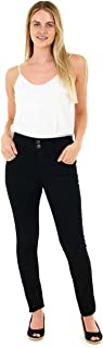 M17 Vrouwen Dames Hoge Taille Denim Jeans Dubbele Knop Casual Katoen Broek Met Zakken