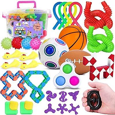 BRIGHT MOON Fidget Toys Set 30 Pcs Fidget Packs...