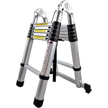 Mctech Escalera multifunción telescópica plegable de aluminio de 1,9+1,9m-- Capacidad de carga 150 kg: Amazon.es: Bricolaje y herramientas