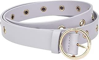 moonsix Women Casual Dress Belt,Leather Belt Waist with Round Buckle