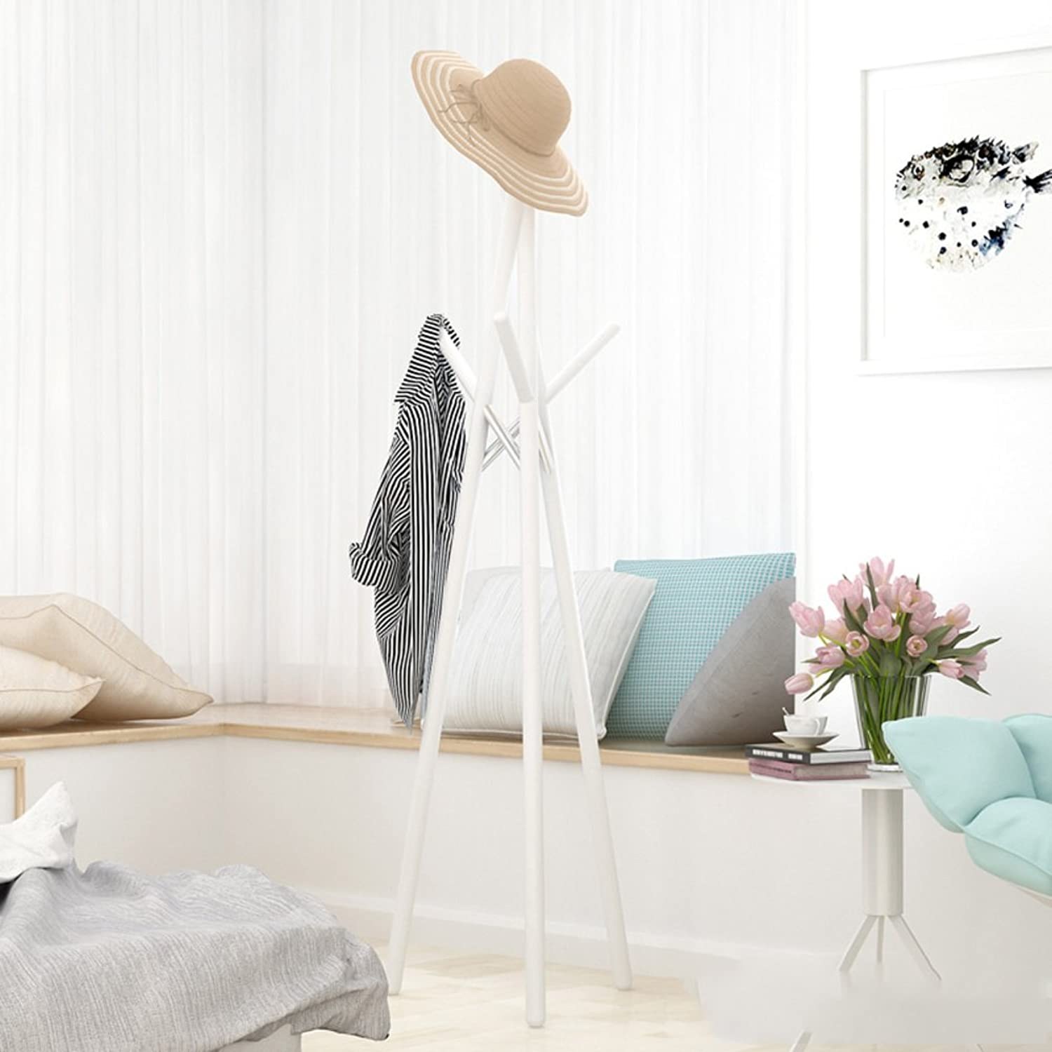 D&L Solid Wood Multifunction Coat Stand Garment Rack Hook Hanger,Sturdy Construction Modern Tree Branch Style-I 178cm
