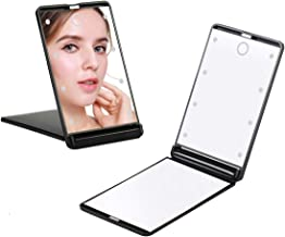 Feruaro Travel Mirror, Portable LED Lighted Makeup Mirror with 8 Dimmable Led Lights, Touch Switch Travel Makeup Mirror, F...