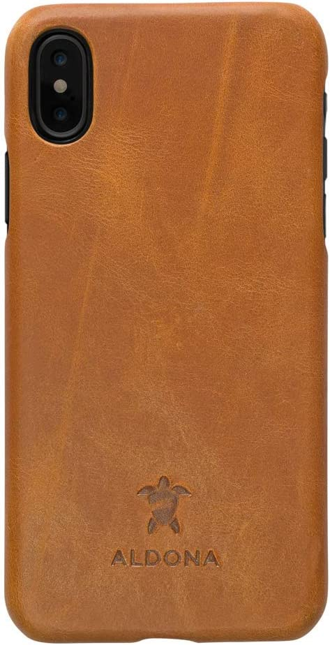 excellence ALDONA Genuine Natural Leather Slim Cover for Xs iPhone At the price X case I