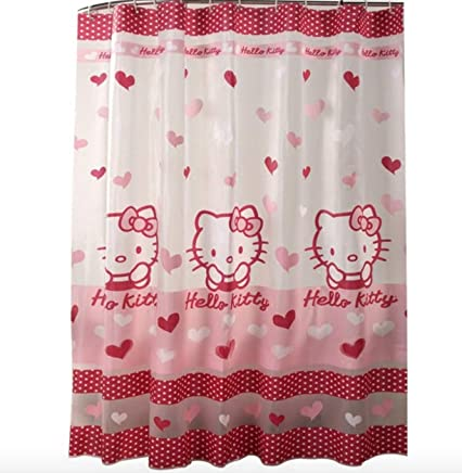 Hello Kitty Accessori Bagno.Amazon It Hello Kitty Accessori Tende Da Doccia Binari E