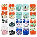 KaWaii Baby 20 Printed Snap One Size Pocket Cloth Diaper Shells Assorted Colors 8-36 lb - Ship from Canada. #1127