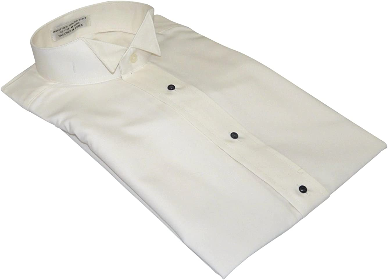 Big and Tall Wing Collar Premium Microfiber Luxury Tuxedo Formal Shirt