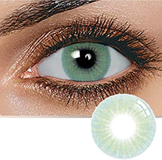 Unisex Contact Lenses, Natural and Beauty Collection Cosmetic Contact Lenses, 12 Months Disposable with Case- Topaz