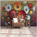 Benutzerdefinierte 3D Wandbild Tapete Vlies Handgemalte Ölgemälde Vase Blume Wohnzimmer Sofa Wand Dekorpapier