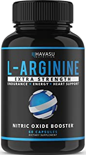 Havasu Nutrition Extra Strength L Arginine – 1200mg Nitric Oxide Supplement for..