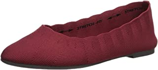 Women's Cleo-Bewitch-Wide-Ballet Flat, red, 5 W US