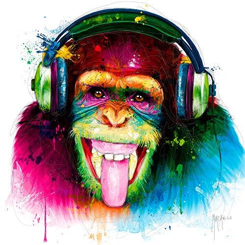International Graphics Fertigbild - MURCIANO, Patrice - ''DJ Monkey'' - 30 x 30 cm - Direktdruck auf Acryl