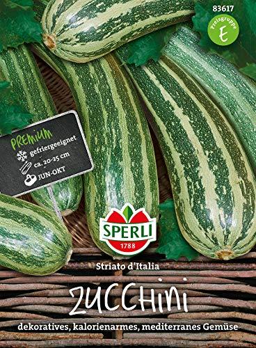 83617 Sperli Premium Zuchini Samen Striato Italia | Früh | Lange Ernte | Gestreifte Zucchini | Zuchini Saatgut | Zucchini Gestreift