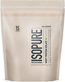 Isopure Zero Carb 100% Whey Protein Isolate Powder - 1 lb, 454 g (Unflavoured)