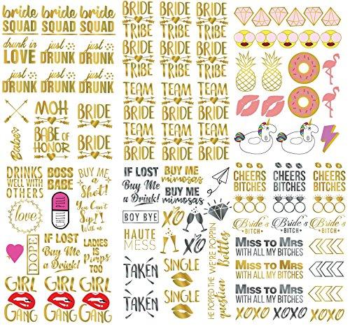 ASVP Shop, tatuaggi temporanei per festa di addio al nubilato, regalo per la sposa, damigelle d'onore, amiche della sposa