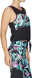 Rockwear Activewear Women's Aloha Tie Front Printed Panel Tank from Size 4-18 for Singlets Tops