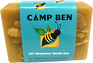 CAMP BEN DIY Beeswax Rosin Wrap Beez Bar - Do It Yourself Create Your Own Food Wraps - Pine Resin - All Natural Food Safe - DIY Bar for Making Cloth Clings - Replace Plastic and Foil - Eco Friendly