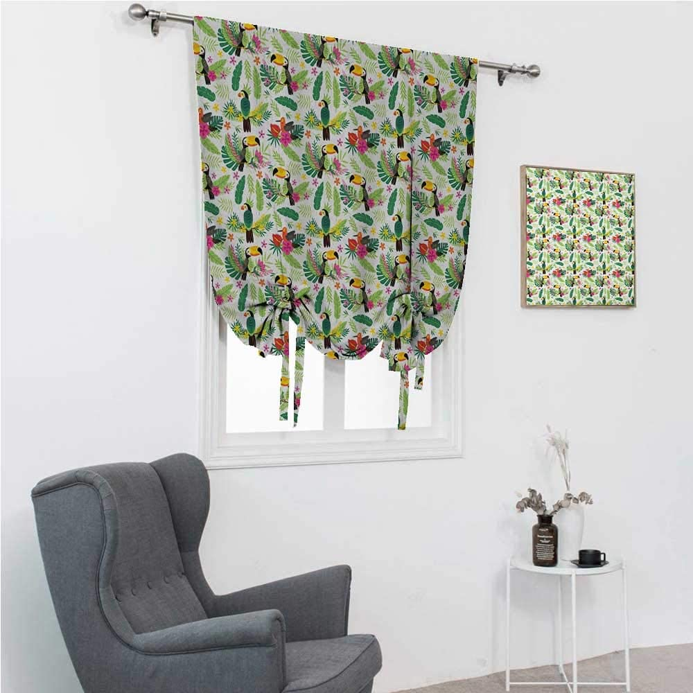 GugeABC Roman Shades List Colorado Springs Mall price for Windows Window Curtains Cute Parrot