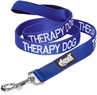 Dexil Limited Therapy Dog Blue Color Coded 2 4 6 Foot Padded Dog Leash Prevents Accidents by Warning Others of Your Dog in Advance