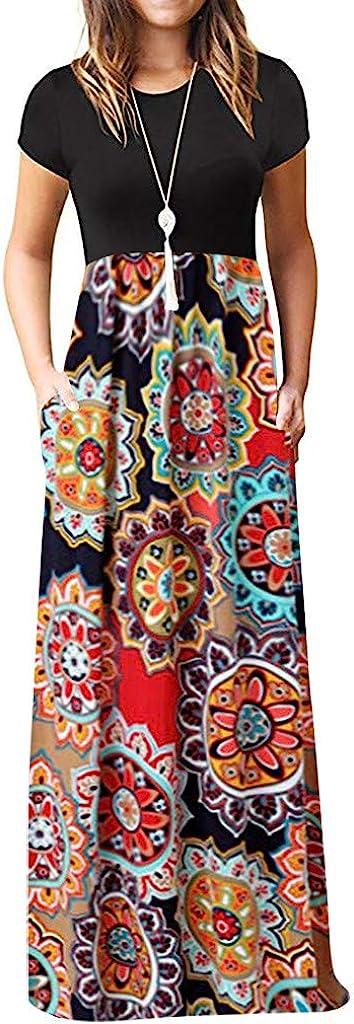 Women's Dresses Superlatite Sleeveless Summer Boho Max 42% OFF Be Pocket Long Print