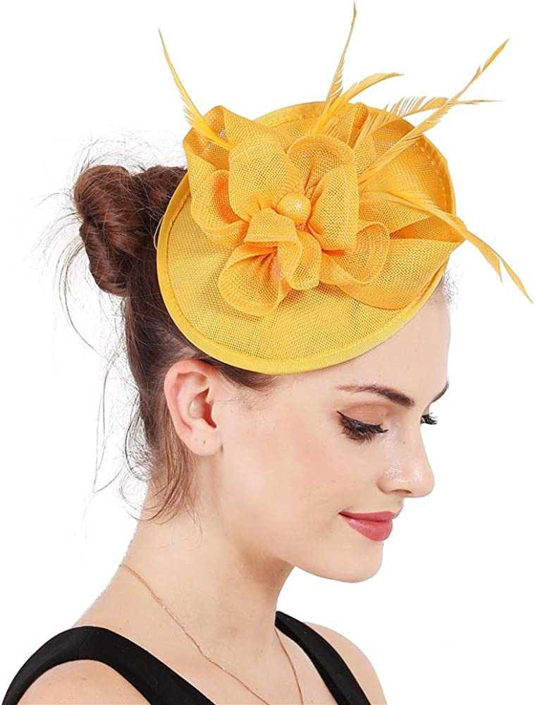 Fascinator Hat Millinery on Hairbands Cocktail Wedding Church Headpiece SYF75
