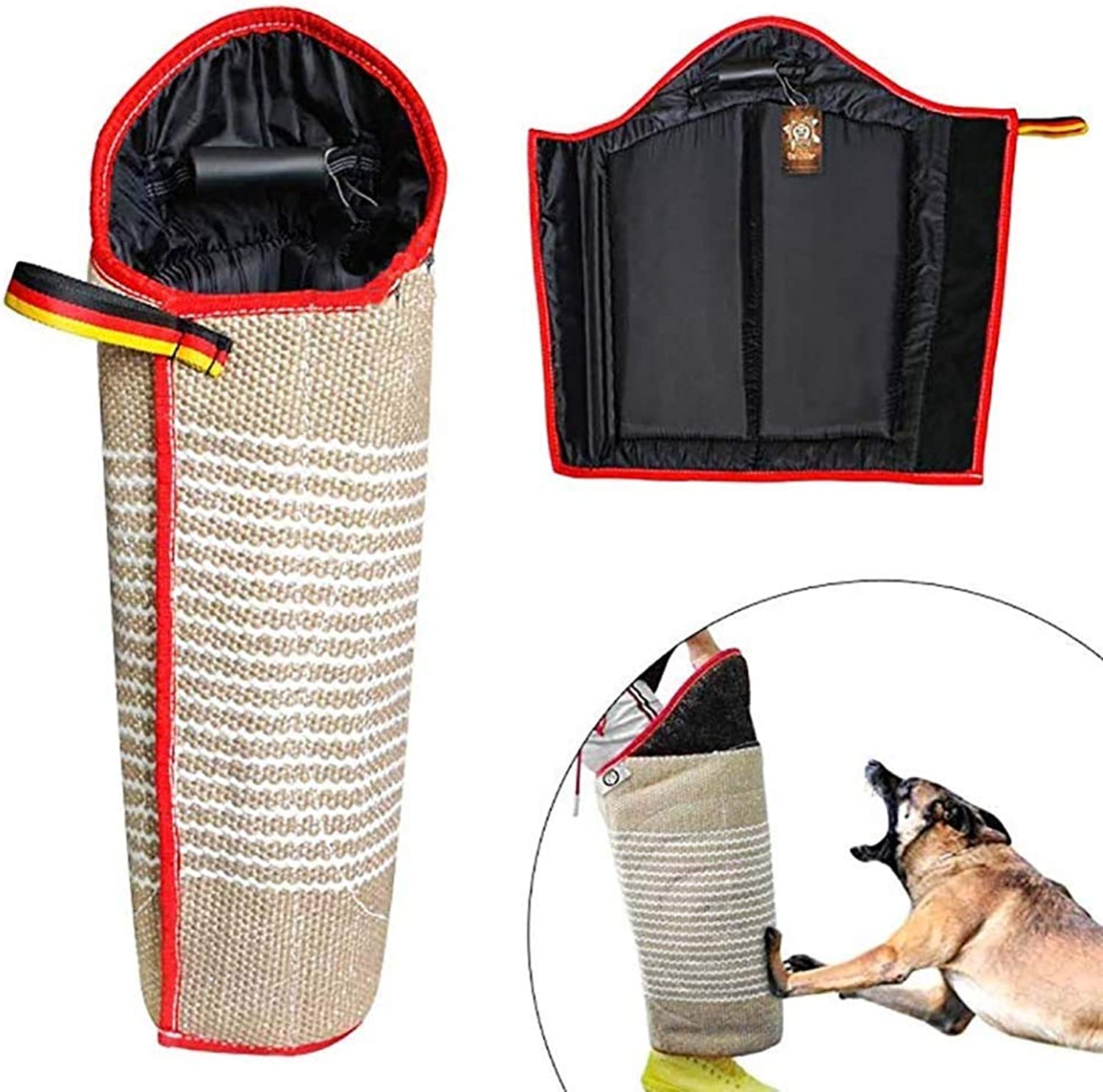LJXiioo Dog Training Bite Leg Sleeves with Handle for Training Work Dog Puppy,Long Leg Training Sleeves