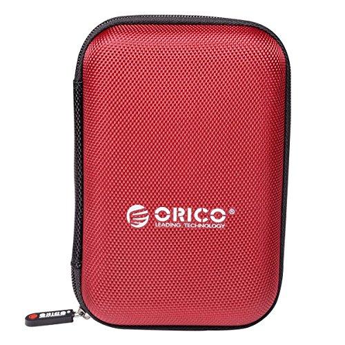 ORICO Funda Disco Duro 2,5 Pulgadas,Protección del Bolso para HDD/USB Flash/SD Card - Rojo