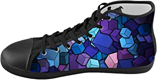 Custom Kid's Shoes Colorful Art Top Canvas