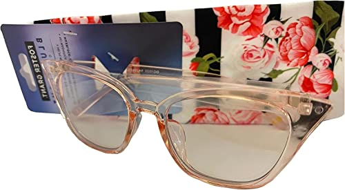 high quality Foster discount Grant Women's Clear outlet online sale Pink Blue Light Glasses outlet sale