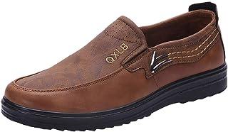 ZHANSANFM Mocassin Chaussures à Enfiler Respirantes pour Homme Oxford Chaussures de Travail en Cuir légères Taille 38-48