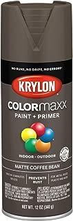 Krylon K05596007 COLORmaxx Spray Paint, Aerosol, Coffee Bean