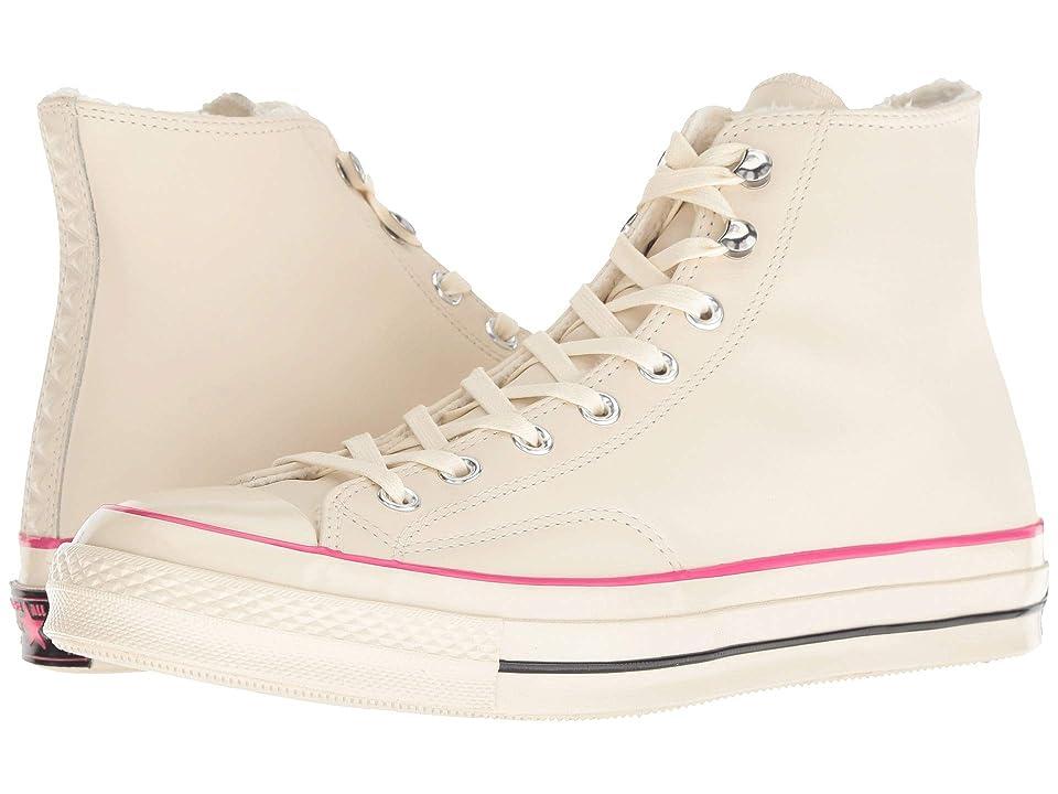 d9c4f9e4c1214a Converse Chuck 70 Leather Hi (Natural Ivory Pink Pop Black) Lace up