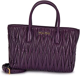 Luxury Fashion | Miu Miu Womens 5BG163VOOON88F0030 Purple Tote | Fall Winter 19