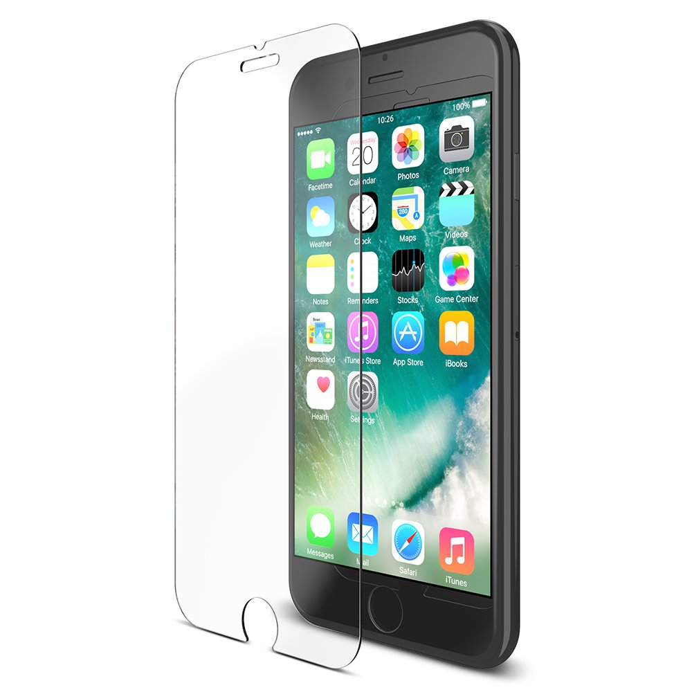 Maxboost (3-Pack) Screen Protector for iPhone SE 2020 2nd Gen, iPhone 8, iPhone 7, iPhone 6S, and iPhone 6, Tempered Glass with Installation Tray - 3 Pack