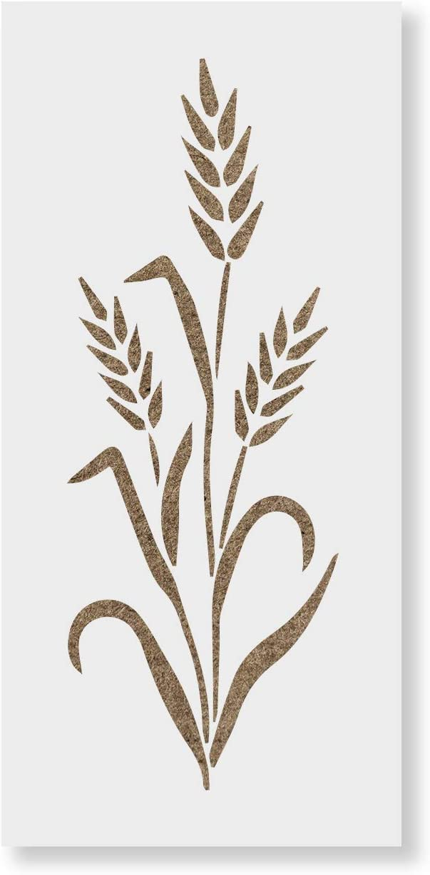 Wheat Stencil Template for Walls and Crafts Reusable Stencils for Painting in Small /& Large Sizes