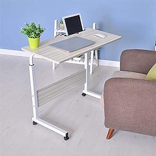 COOLBABY Adjustable Mobile Bed Table Portable Laptop Computer Stand Desks 80x40CM