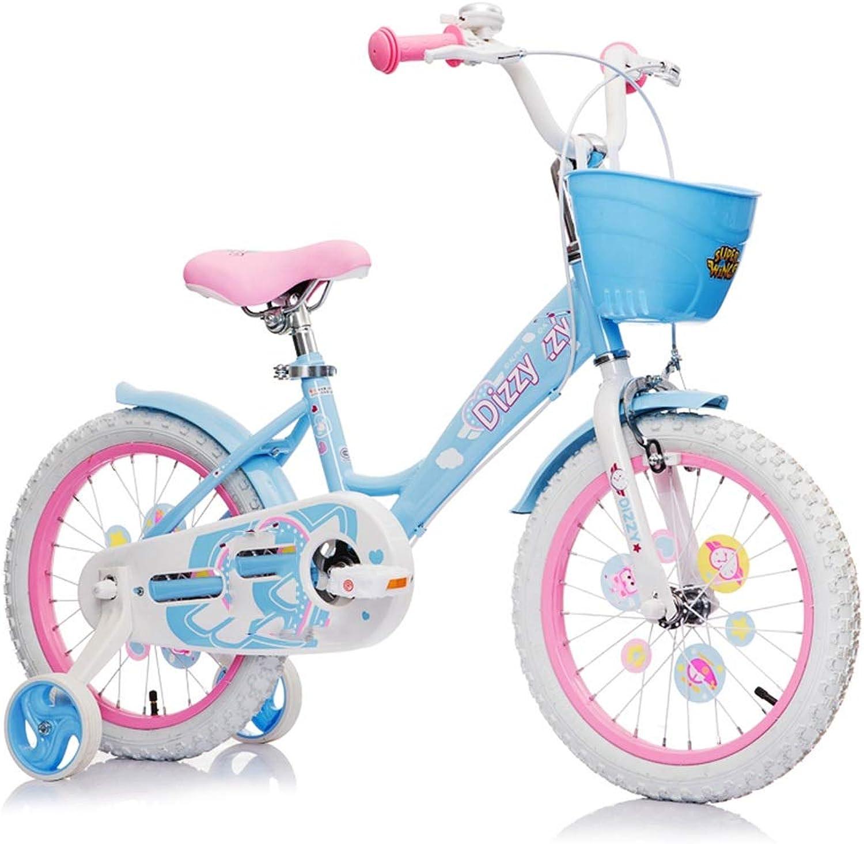 ganancia cero Axdwfd Infantiles Bicicletas Bicicleta for Niños Bicicleta de 12 12 12 14 16 Pulgadas Bicicletas for Niños y niñas de Alto Cochebono de Acero 2-8  conveniente