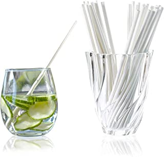 Siply Paper Biodegradable Drinking Straws – Disposable, Eco-Friendly & Dye-Free | Individually Wrapped Bulk Paper Straws | For Smoothies, Milkshakes, Cocktails, Restaurants, Party Supplies (200)