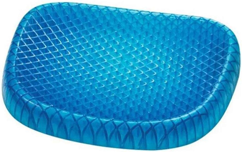 Silicon Gel Chair Cushion Cool Down Seat Cushions Breathable Honeycomb 3D Pillow Wheelchair Cushion Health Care Car Sofa Cushion,bluee,43  36  5CM
